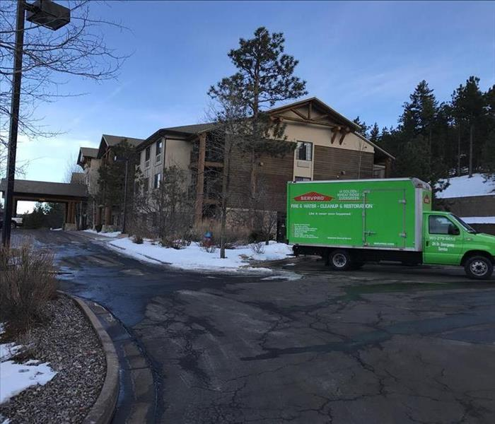 Water cleanup at Comfort Suites, Evergreen